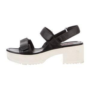 Black leather Prada Sandals
